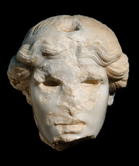 marble sculpture at Corinth