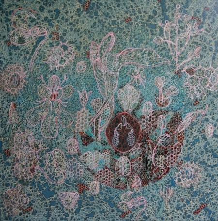 willemien de villiers   orchid   oil on canvas